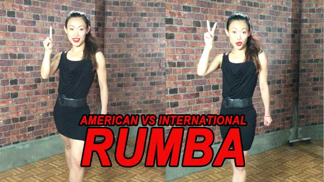 Differences between American style rumba and international rumba
