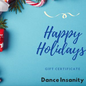Gift card for virtual latin ballroom dance lessons